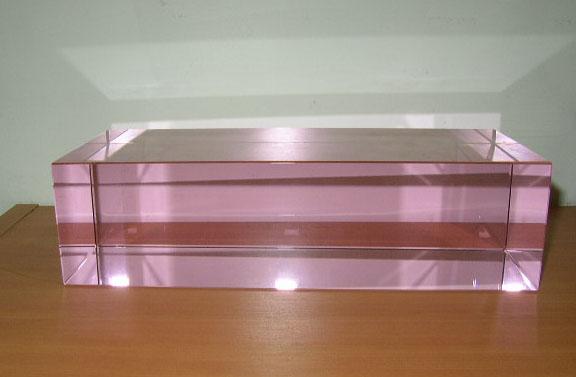 Optical Glass Rectangle Pink