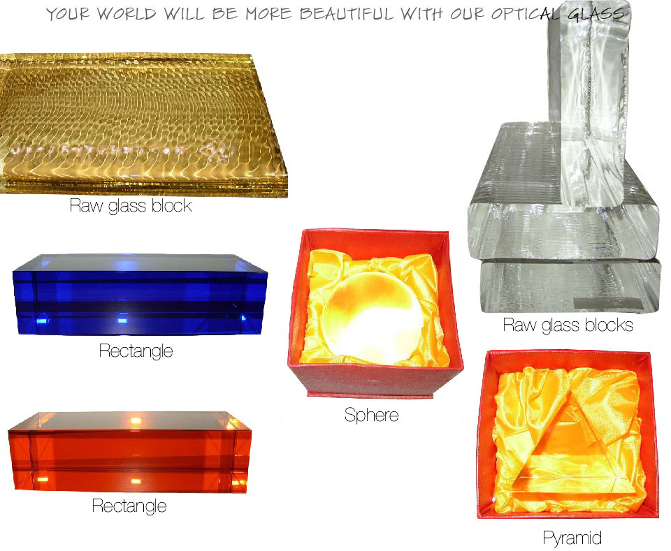 Optical glass items